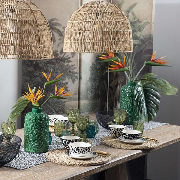"""Vase Urban Jungle, grün """"tropical collection"""""""