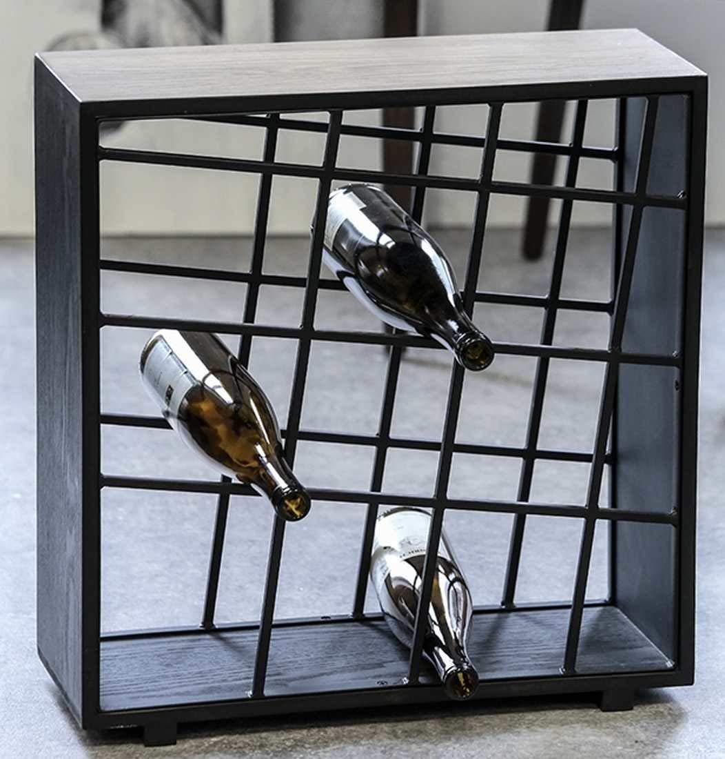 Weinregal FUSION Metall/Holz 12 Flaschen