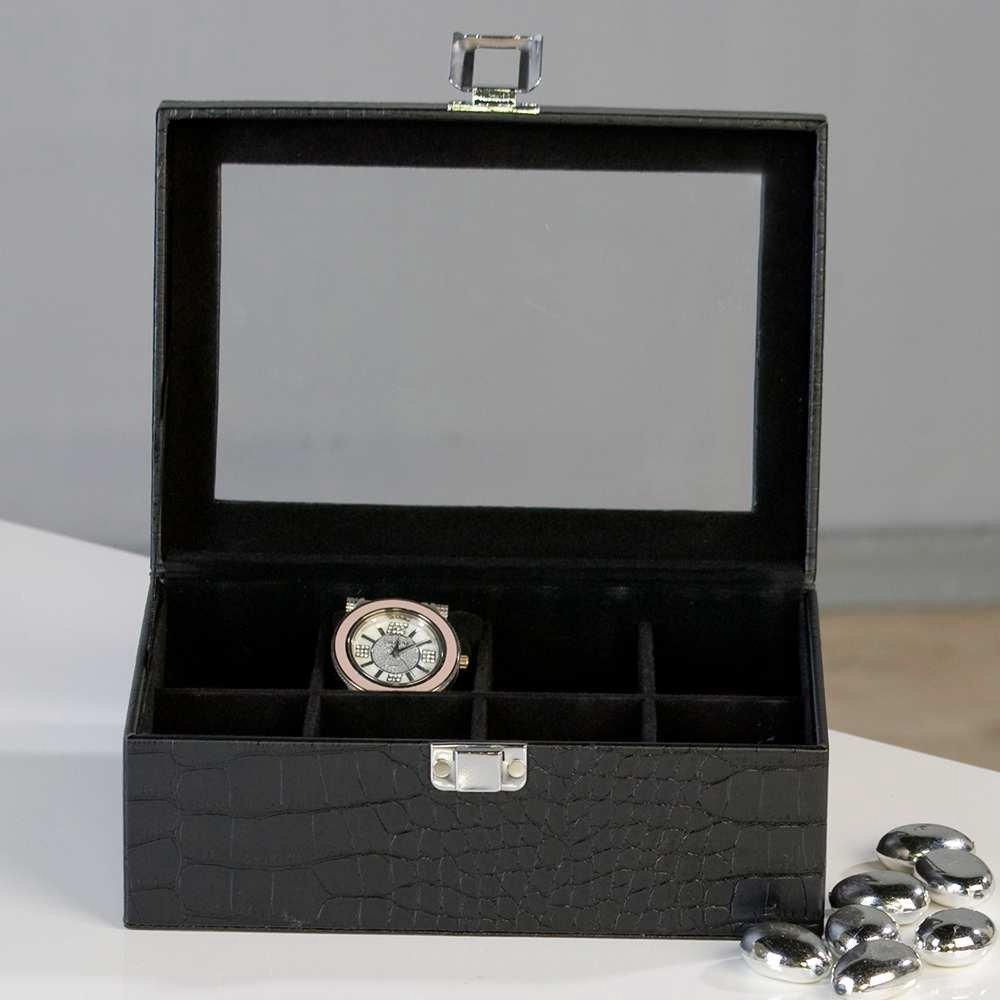 Edle Uhrenbox  in Leder