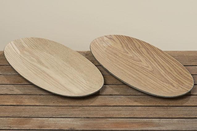 Tablett Holz hell WOODY, 42 cm
