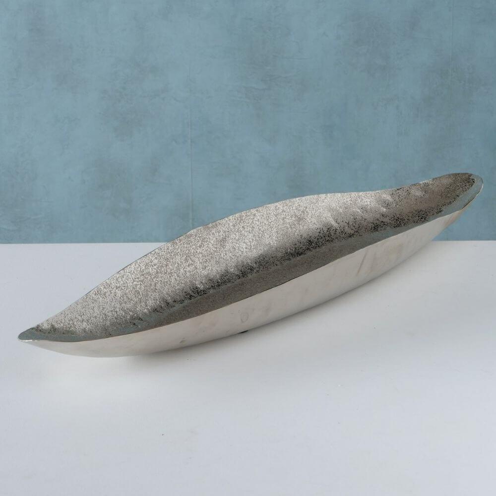 XXL-Dekoschale CARLIE, silber 81 cm lang