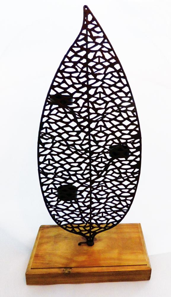 Teelichthalter BLATT, 51 cm