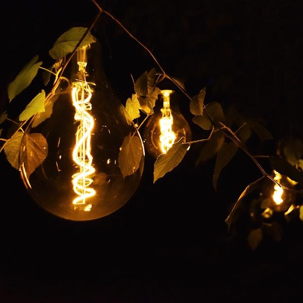 Outdoor LED Lampe, Glühbirne mit Kabel und Timer, Gartendekoration