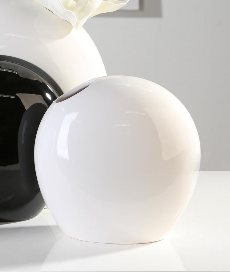 Vase Liaison Keramik weiß