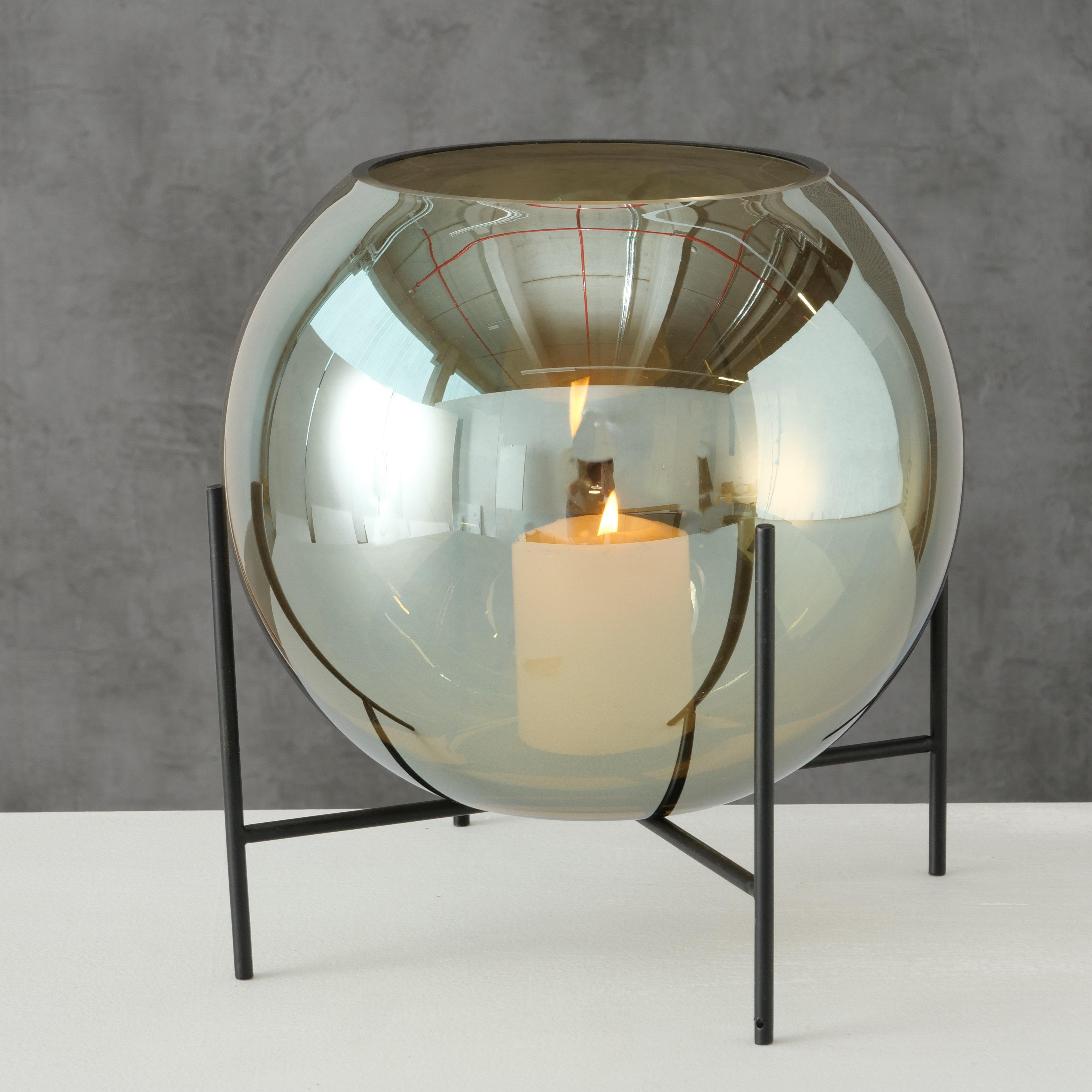 Vase CALLUM mit Ständer, Glas 17 cm