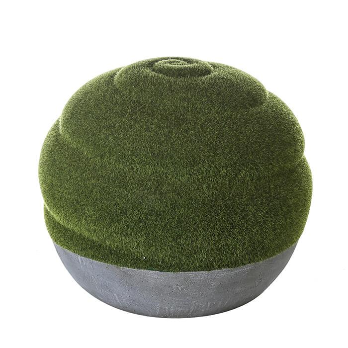 Dekokugel 40 cm, mit Grünbeflockung