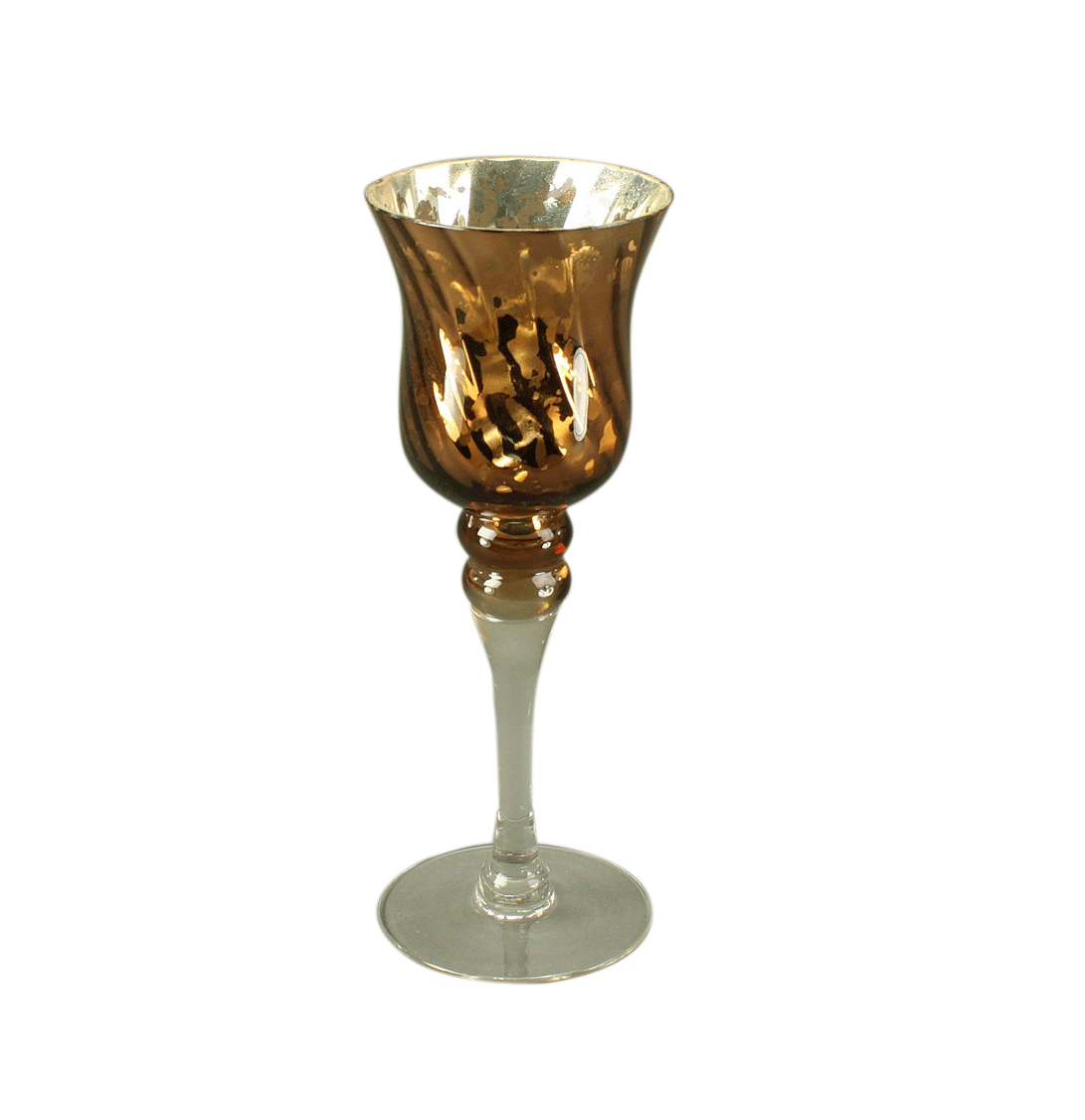"""Windlichtglas """"Paris"""", Kupfereffekt, H 25 cm"""