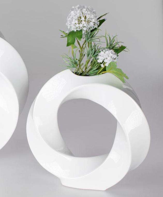 Exklusive Vase ROUNDAL, weiß