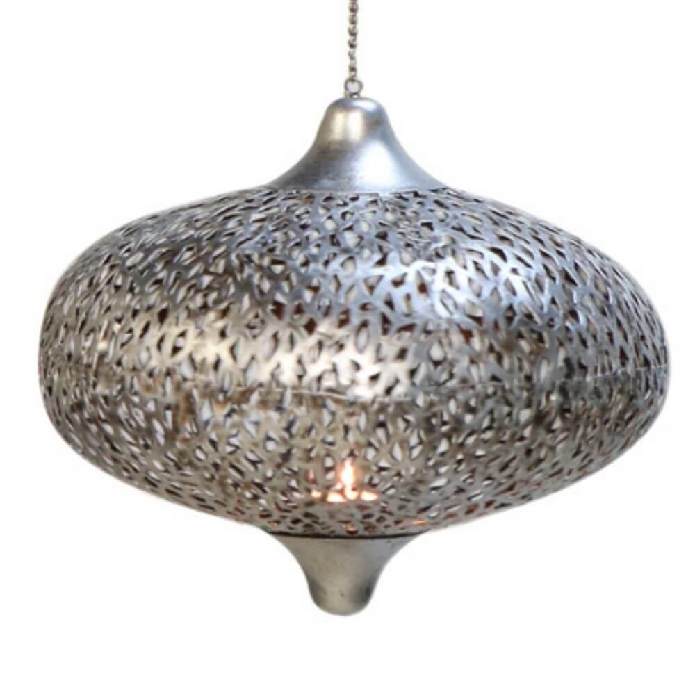 Hängewindlicht Oriental, Silber
