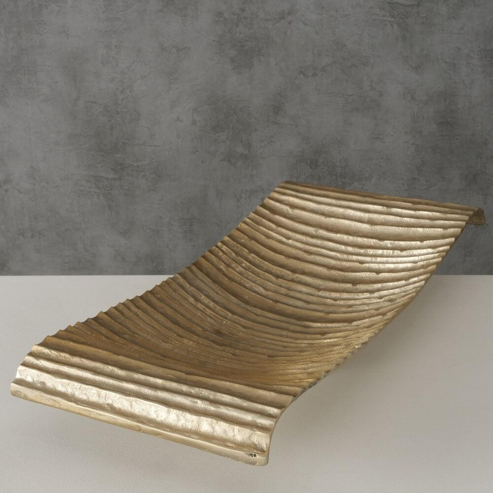 Dekoschale ELESA, 64 cm lang, champagner/gold