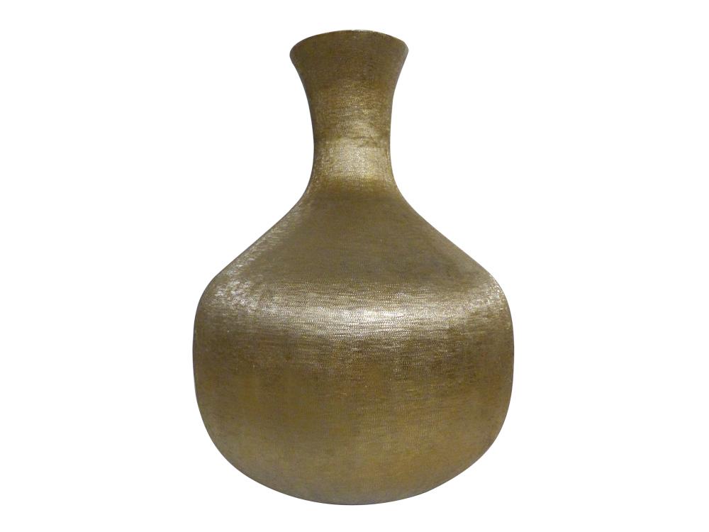 Vase bauchig soft gold exklusive Handarbeit